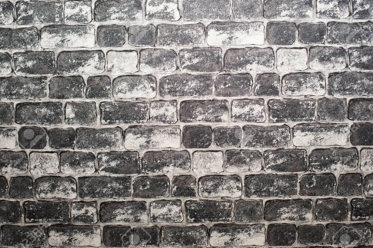 古いれんが造りの壁の背景 グランジ テクスチャ 黒の壁紙 暗い面 の