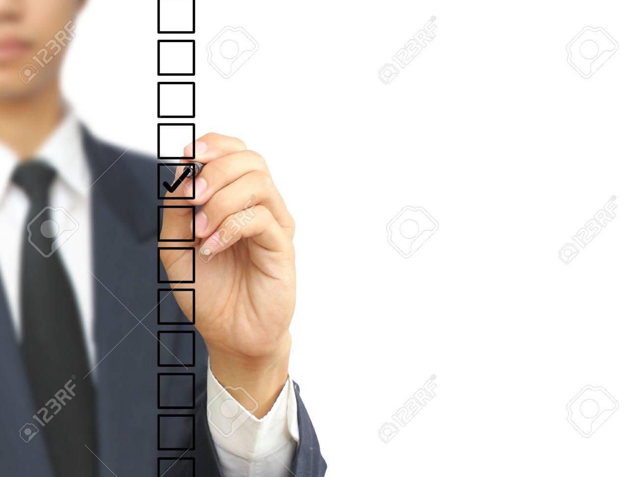 Businessman check choice Stock Photo - 10326337