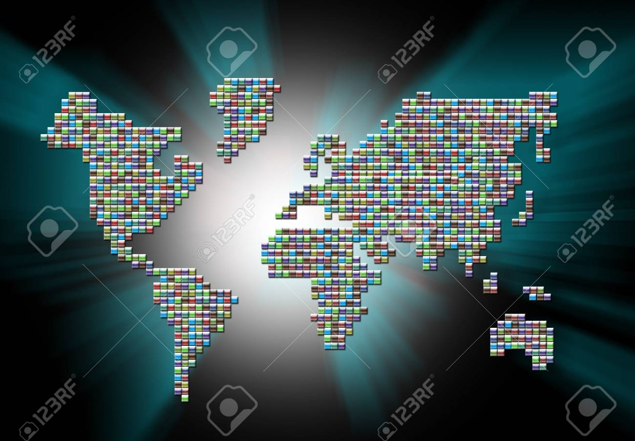 Abstract Map Stock Photo - 15150241