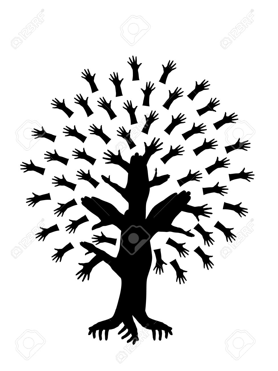 abstract hand tree symbol of diversity royalty free cliparts rh 123rf com Multicultural Clip Art Multicultural Clip Art