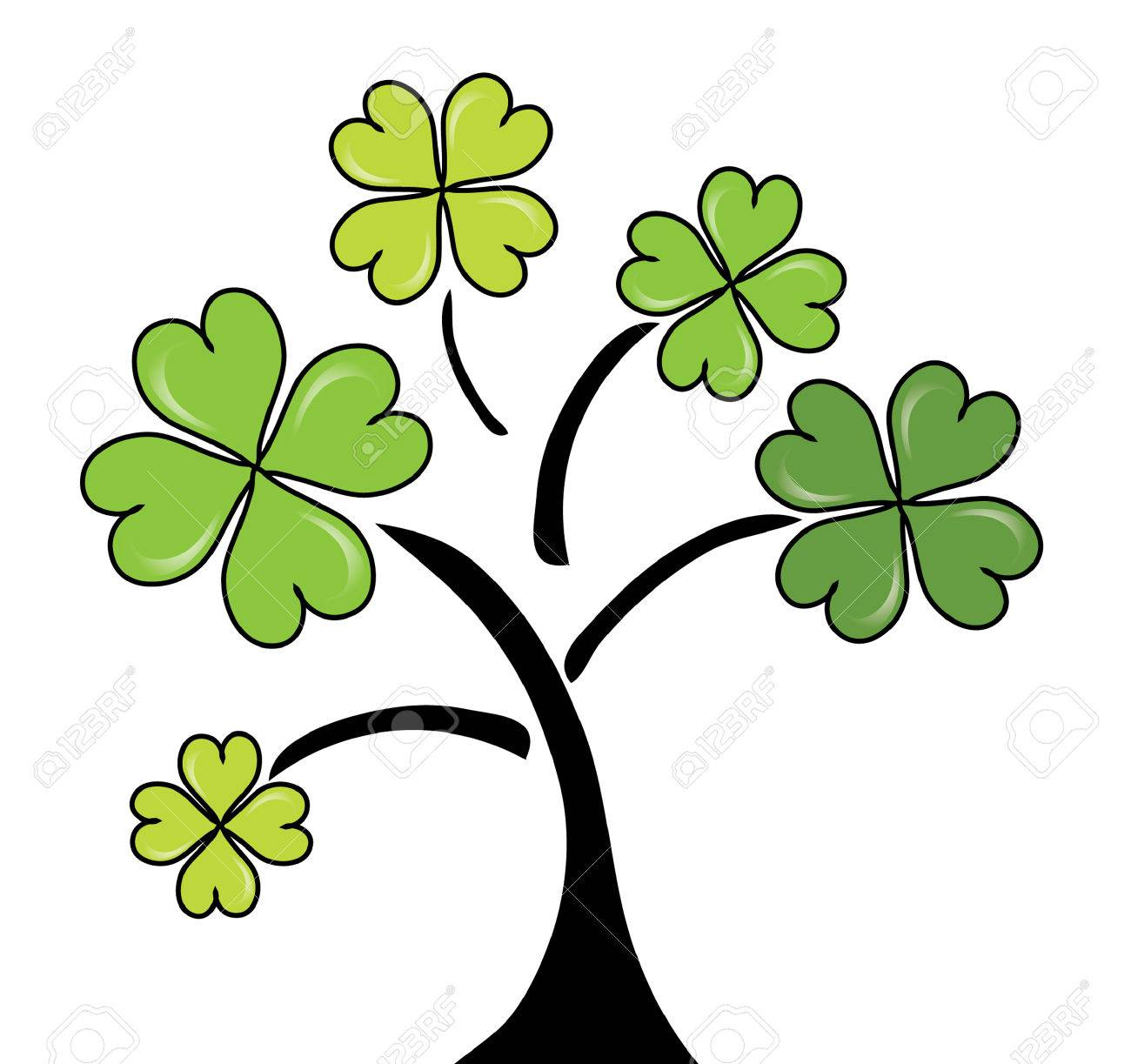 clover tree for St. Patrick's Day Stock Vector - 8921152