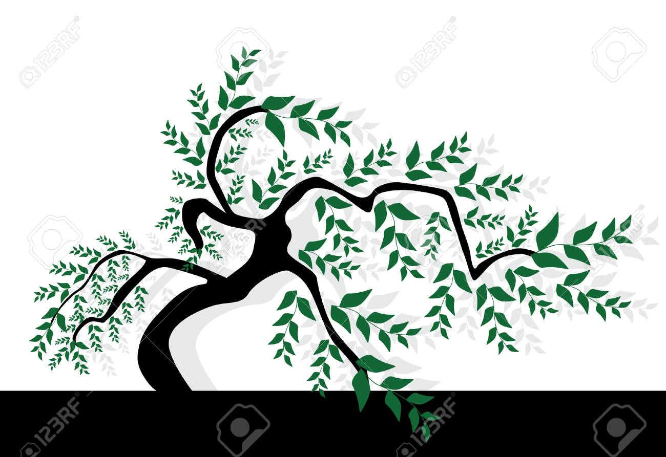 abstract green tree, symbol of nature Stock Vector - 9029476