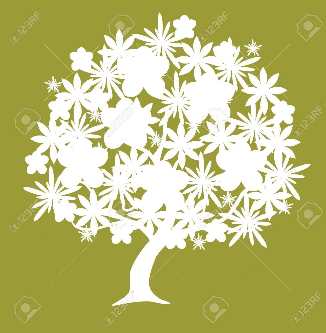 abstract floral tree, symbol of nature Stock Vector - 9148173