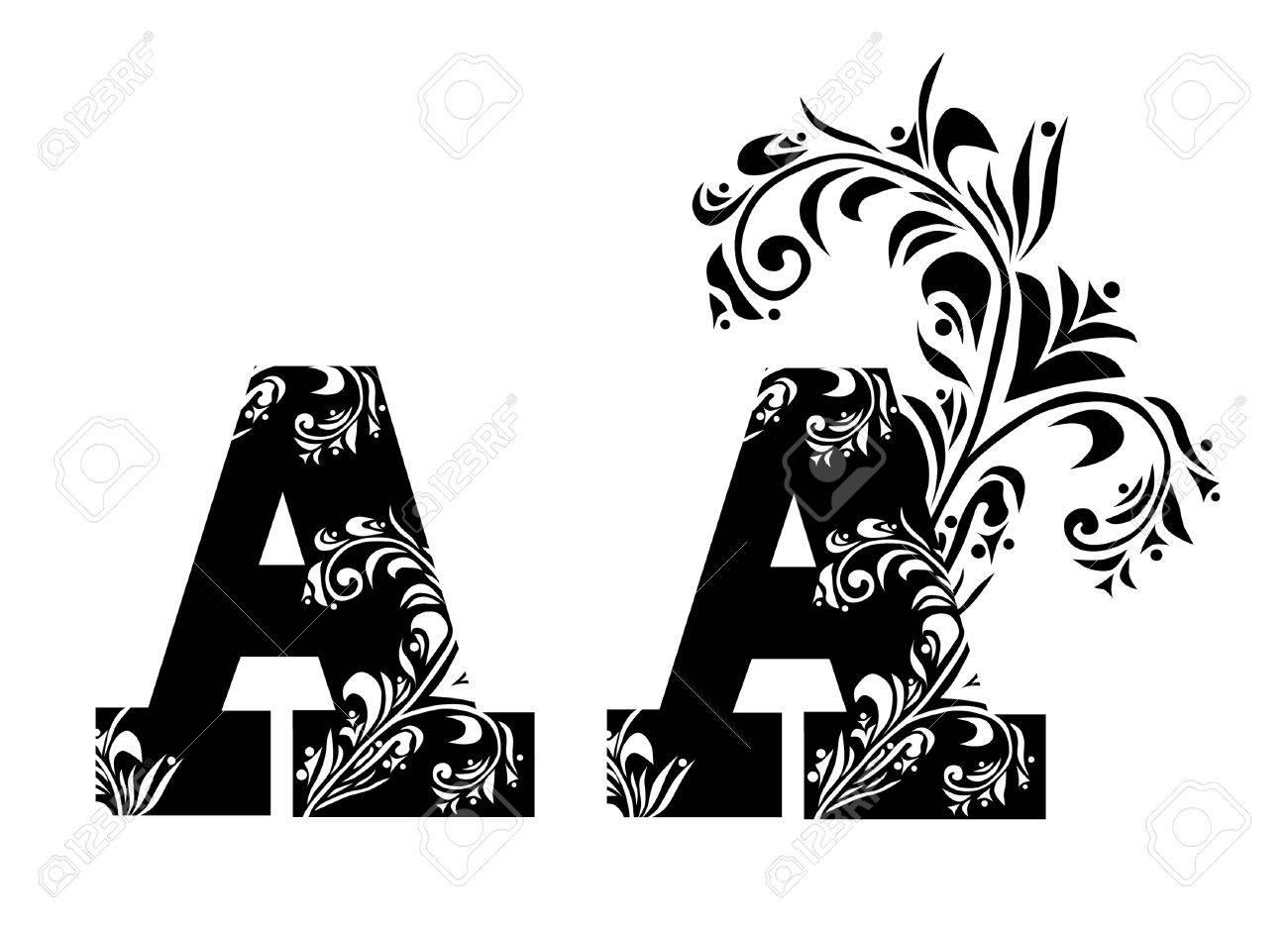 Decorative Letter A.Decorative Letter A For Your Design