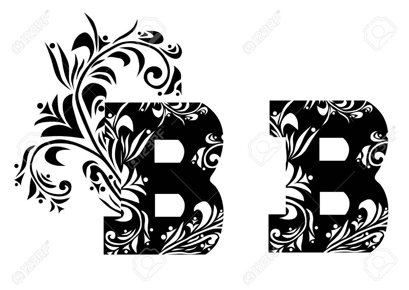 vector decorative letter b for your design