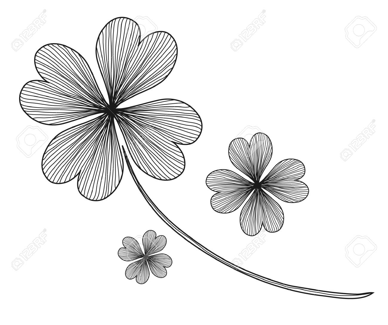 four leaf clovers for St. Patrick's Day Stock Vector - 12056161