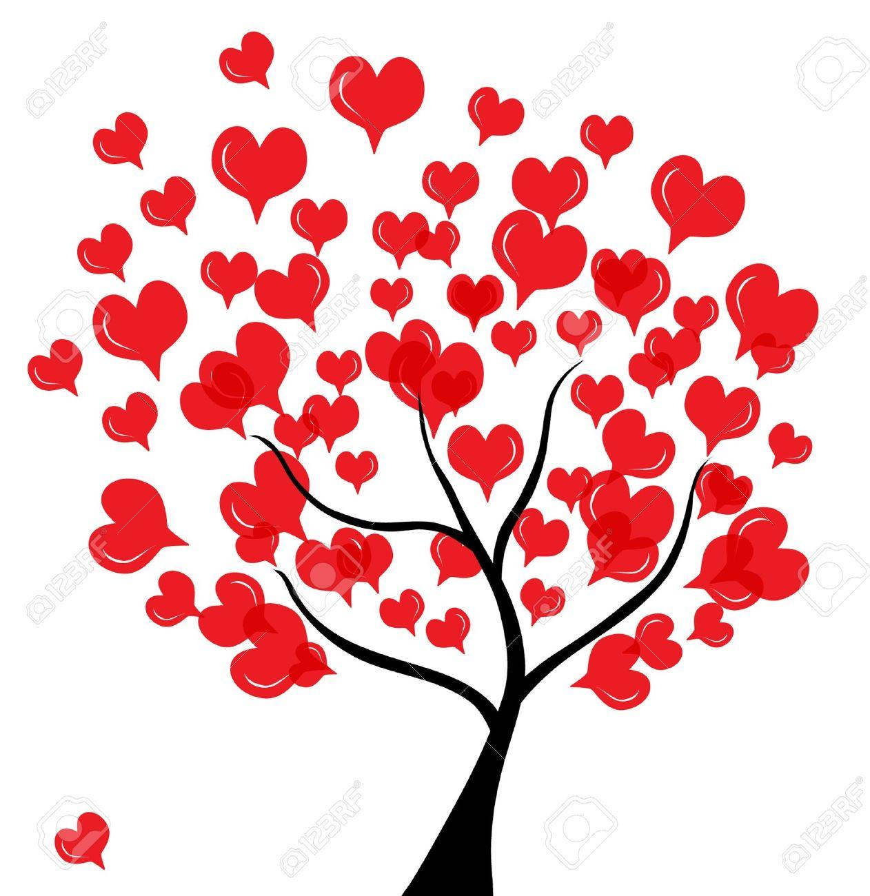 RBol De Amor Abstracto Para El Día De San Valentín, En Colores Negro ...
