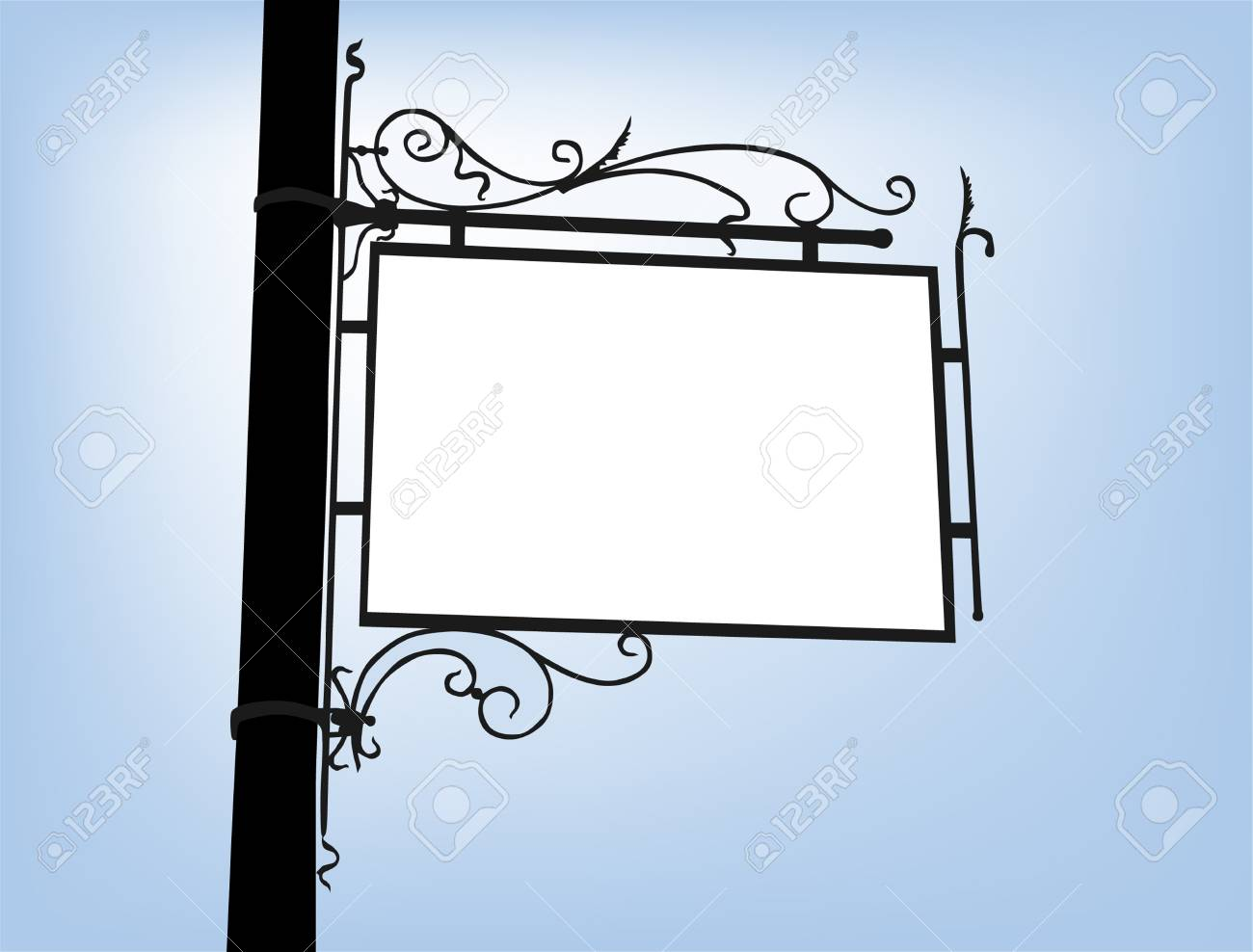 retro signboard with space for your message Stock Vector - 16163930