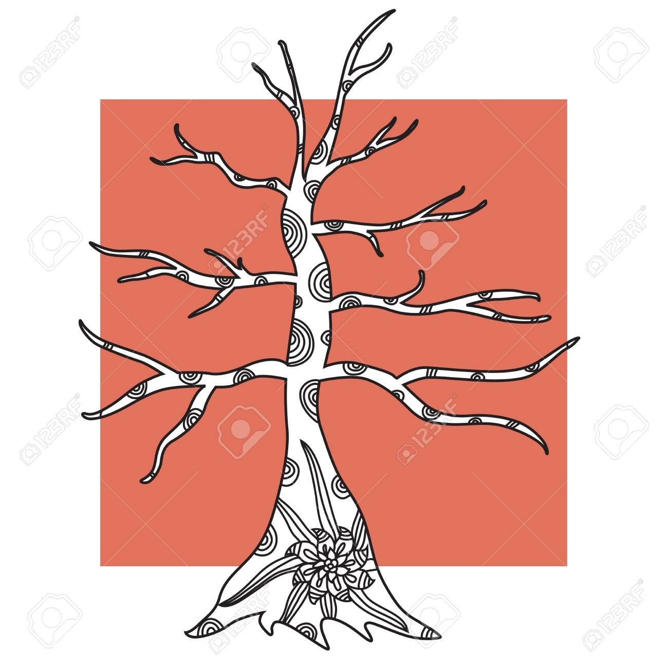 hand drawn decorative tree for your design Stock Vector - 22160079