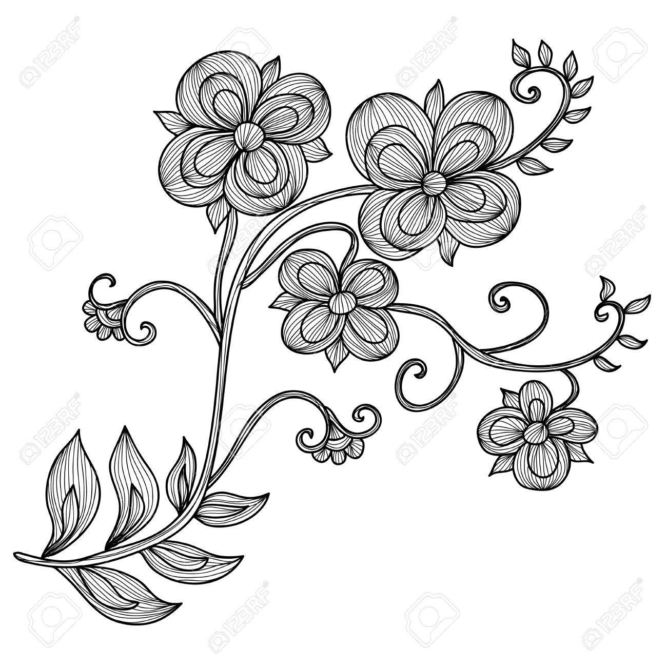 Elegant decorative flowers design element floral branch floral elegant decorative flowers design element floral branch floral decoration for vintage wedding invitations junglespirit Images