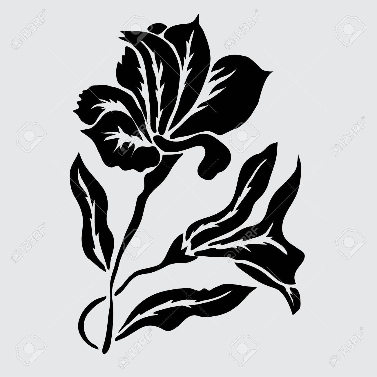 Elegant decorative lily flowers design element floral branch elegant decorative lily flowers design element floral branch floral decoration for vintage wedding dhlflorist Images