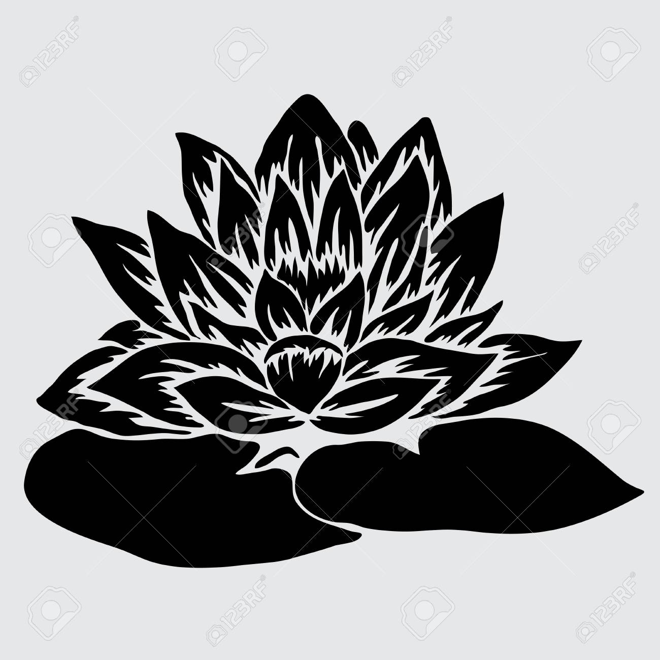 Elegant decorative lotus flower design element floral branch elegant decorative lotus flower design element floral branch stock vector 30301750 izmirmasajfo