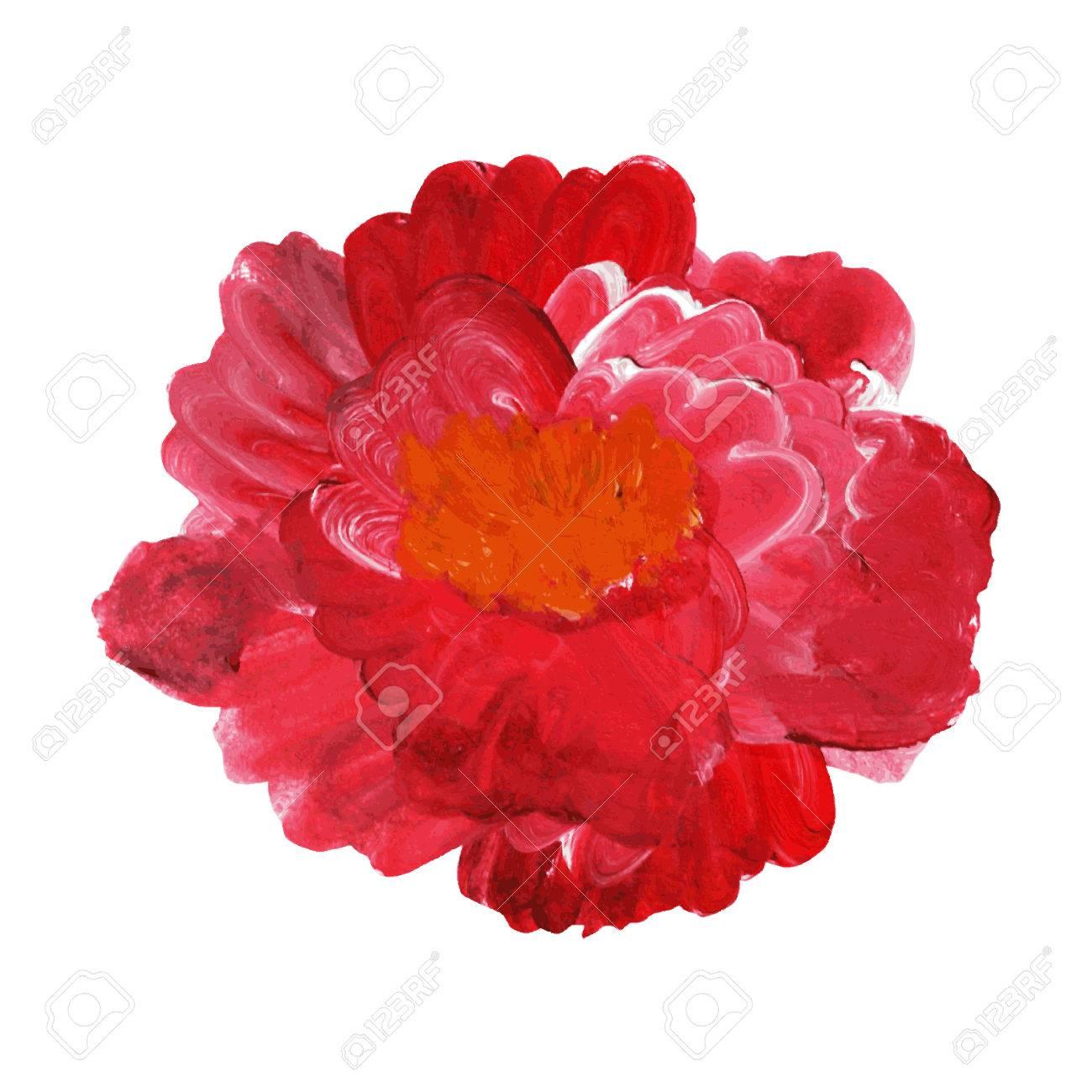 Dekorative Ol Gemalt Rose Blume Design Element Kann Fur Hochzeit