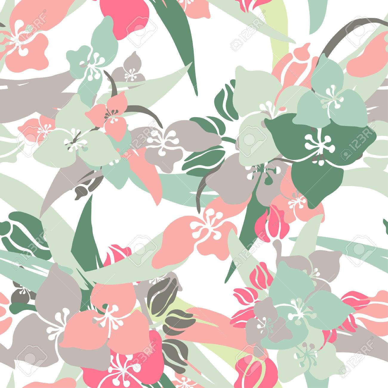 Elegant seamless pattern with hand drawn decorative lily flowers elegant seamless pattern with hand drawn decorative lily flowers design elements floral pattern for dhlflorist Images