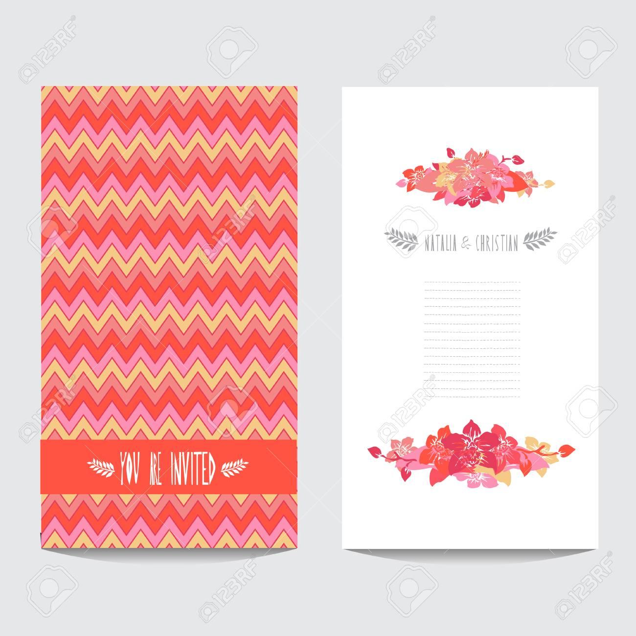Elegant Card With Decorative Orchid Flowers , Design Element ...