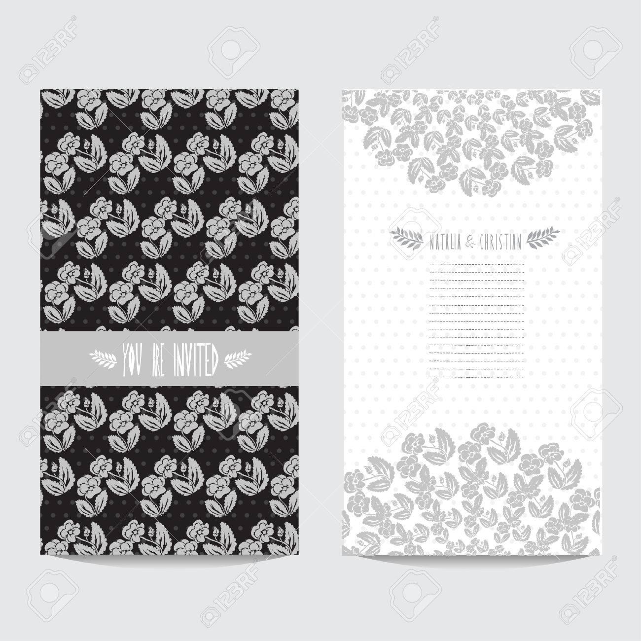 Tarjeta Elegante En Colores Plata Negras Con Pensamientos De