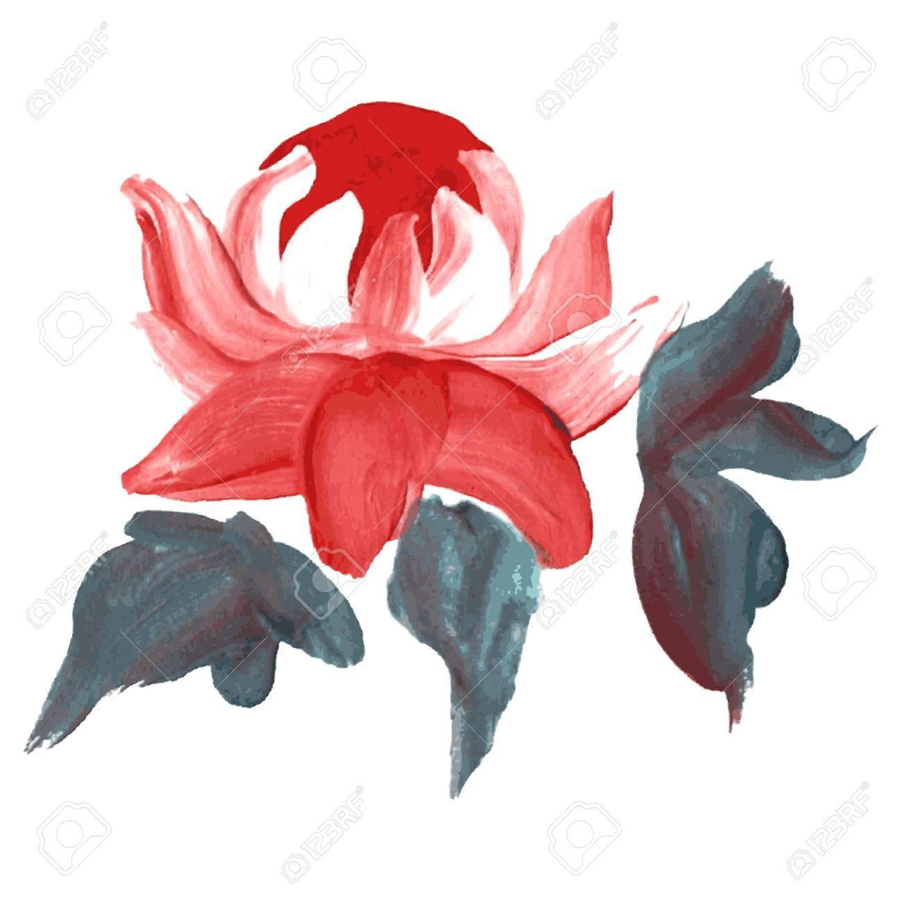 Dekorative Ol Gemalt Pfingstrose Blume Design Element Kann Fur