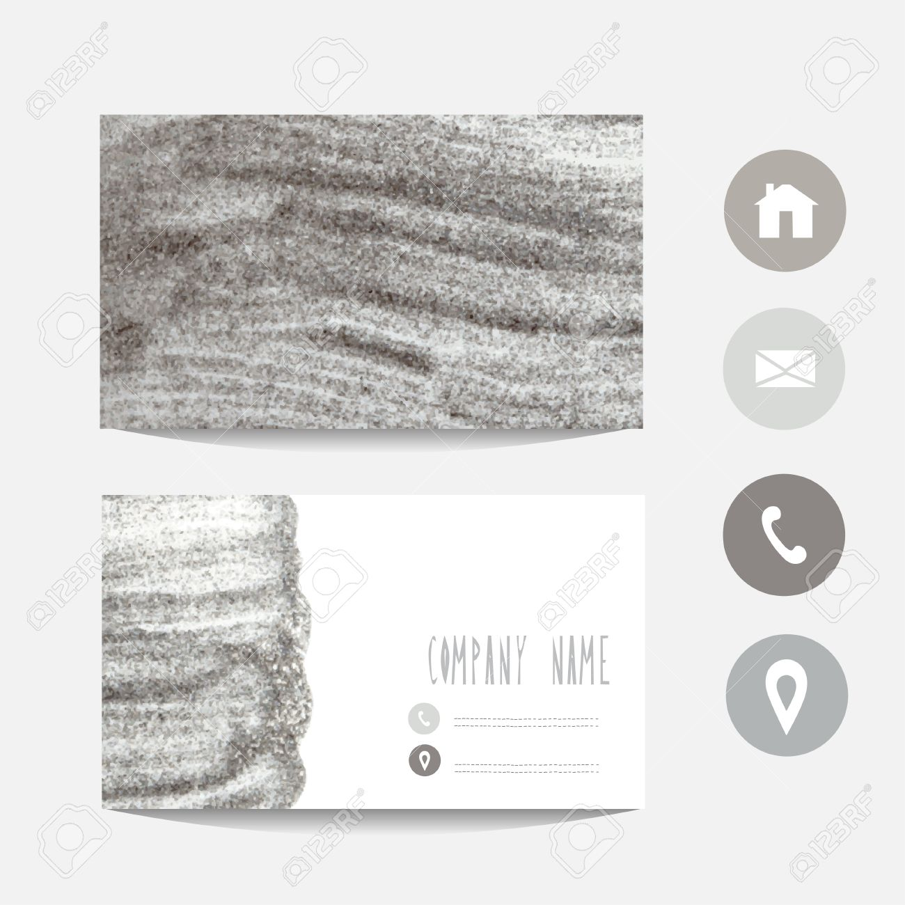 Silver Glitter Business Card Template, Design Element. Can Be ...