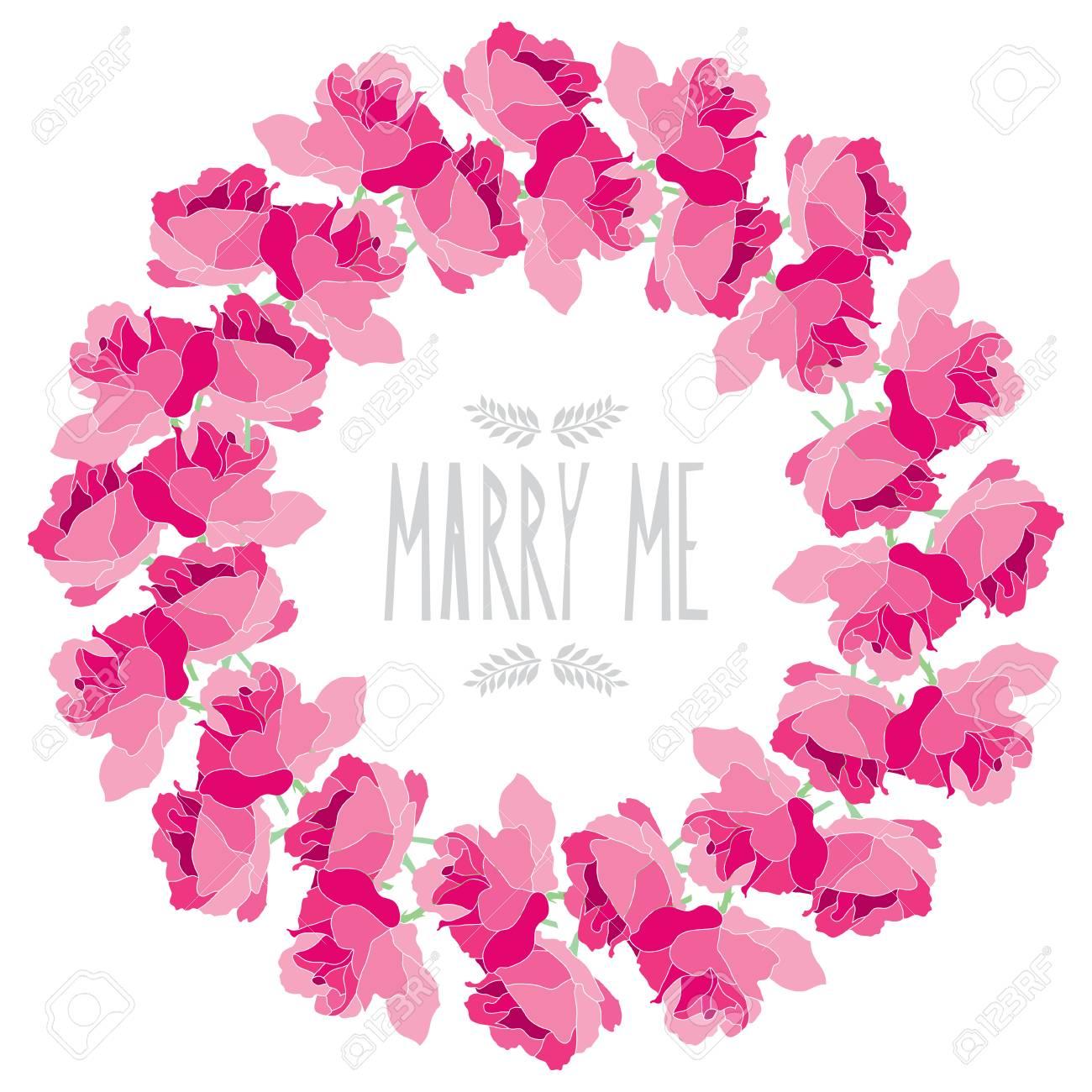 Guirnalda Elegante Con Flores Decorativas De Rosa Elemento De Diseño Puede Ser Utilizado Para Casarse Fiesta De Bienvenida Al Bebé Día De Madres