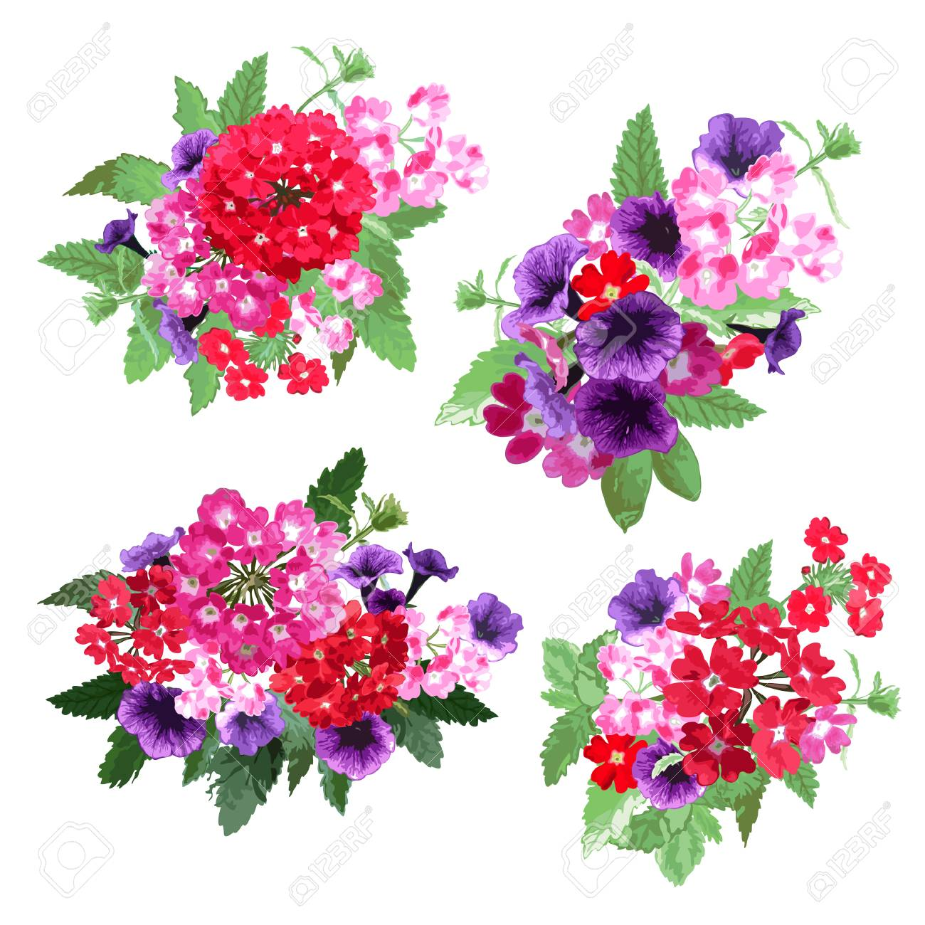 Elegant floral bouquets design elements floral compositions elegant floral bouquets design elements floral compositions can be used for wedding baby izmirmasajfo Choice Image