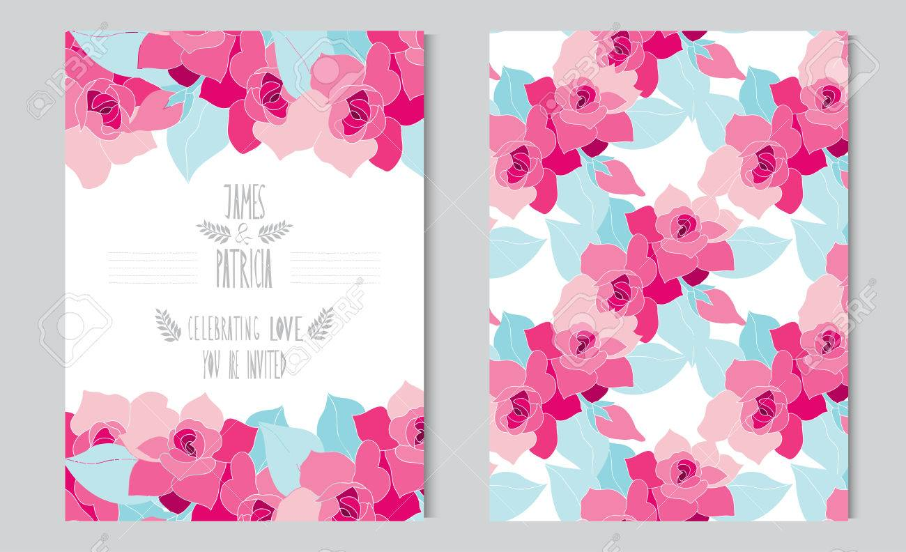 Tarjetas Elegantes Con Flores De Gardenia Decorativos, Elementos De ...