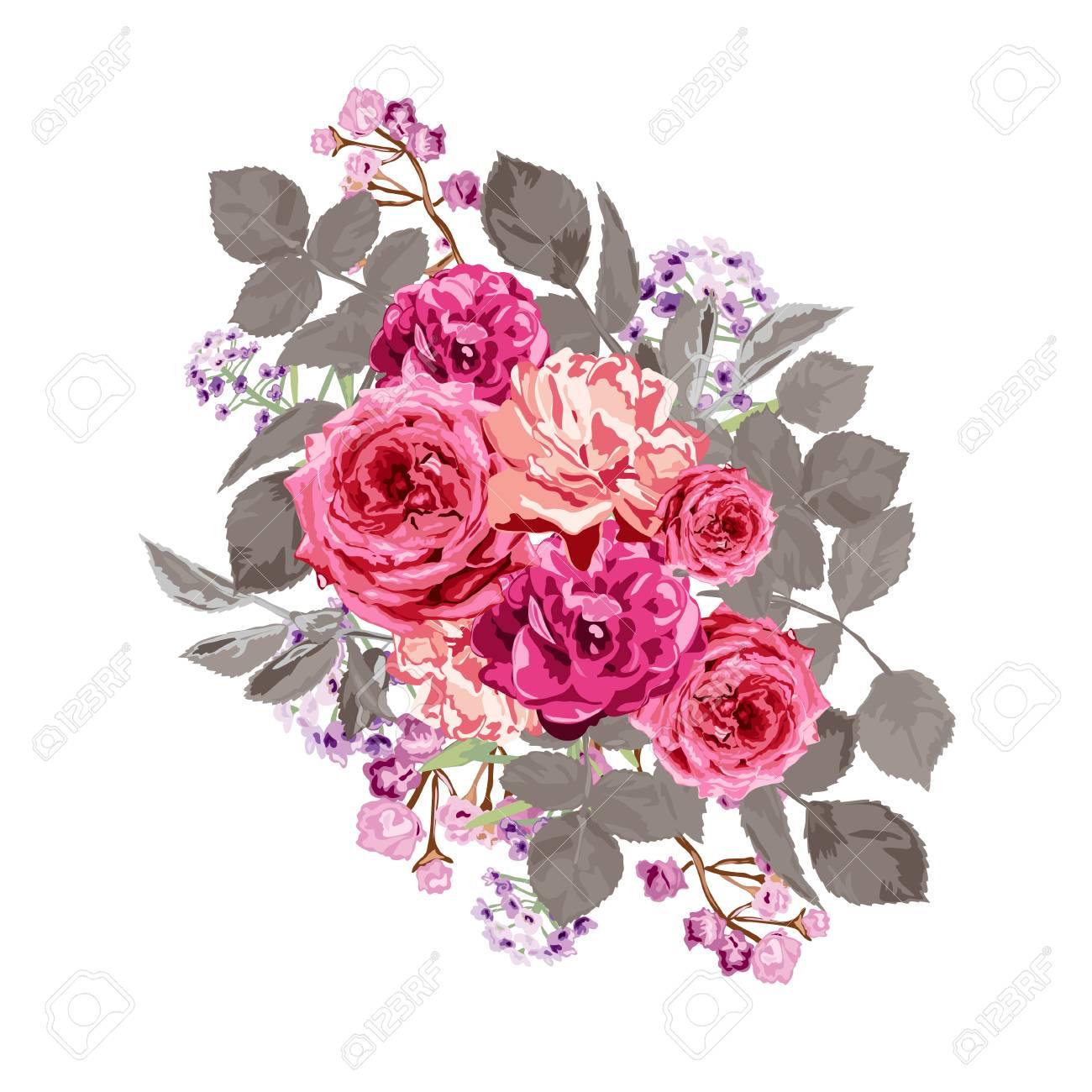 Elegant Floral Bouquet, Design Element. Floral Composition Can ...