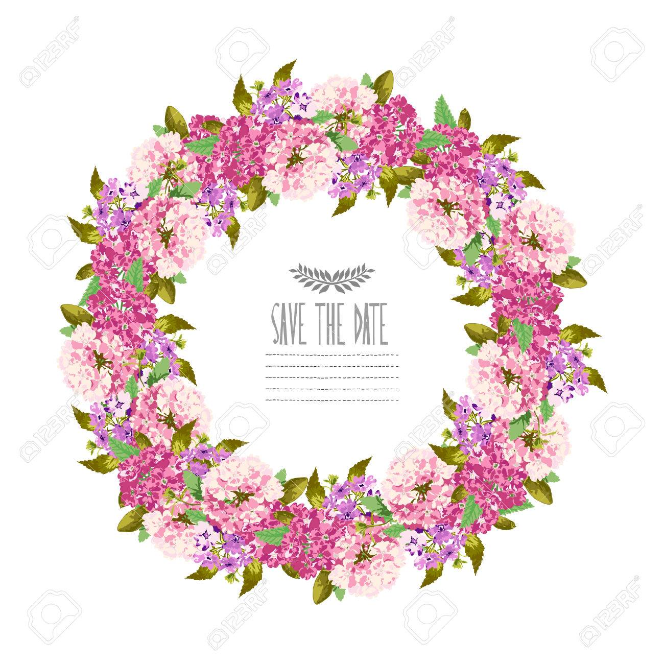 Elegant Floral Wreath Design Element Can Be Used For Wedding