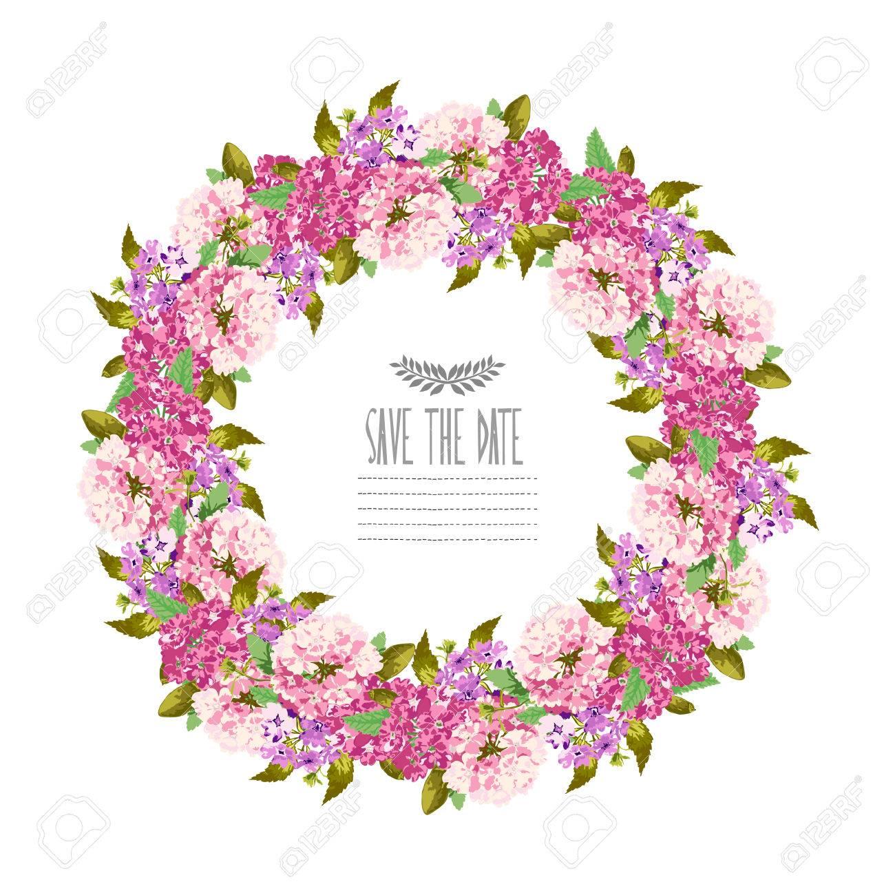 Elegante Guirnalda De Flores, Elemento De Diseño. Se Puede Utilizar ...