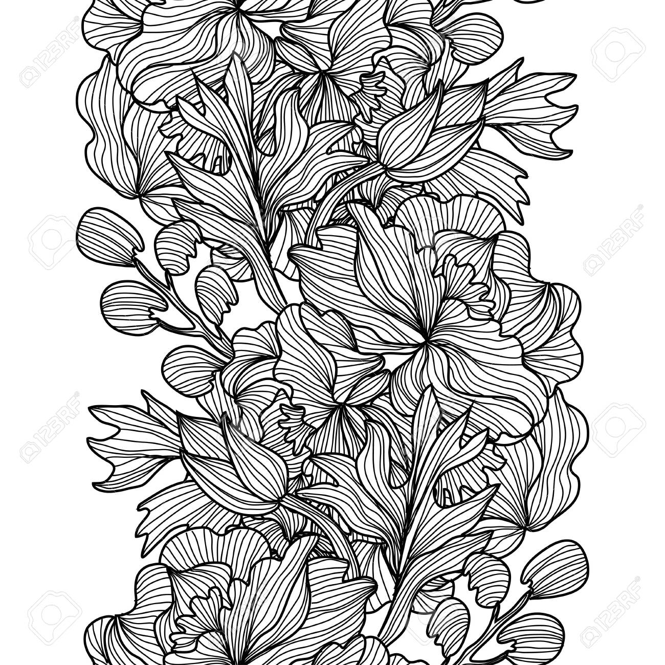 Elegant seamless pattern with peony flowers, design elements. Floral pattern for invitations, cards, print, gift wrap, manufacturing, textile, fabric, wallpapers - 129886230