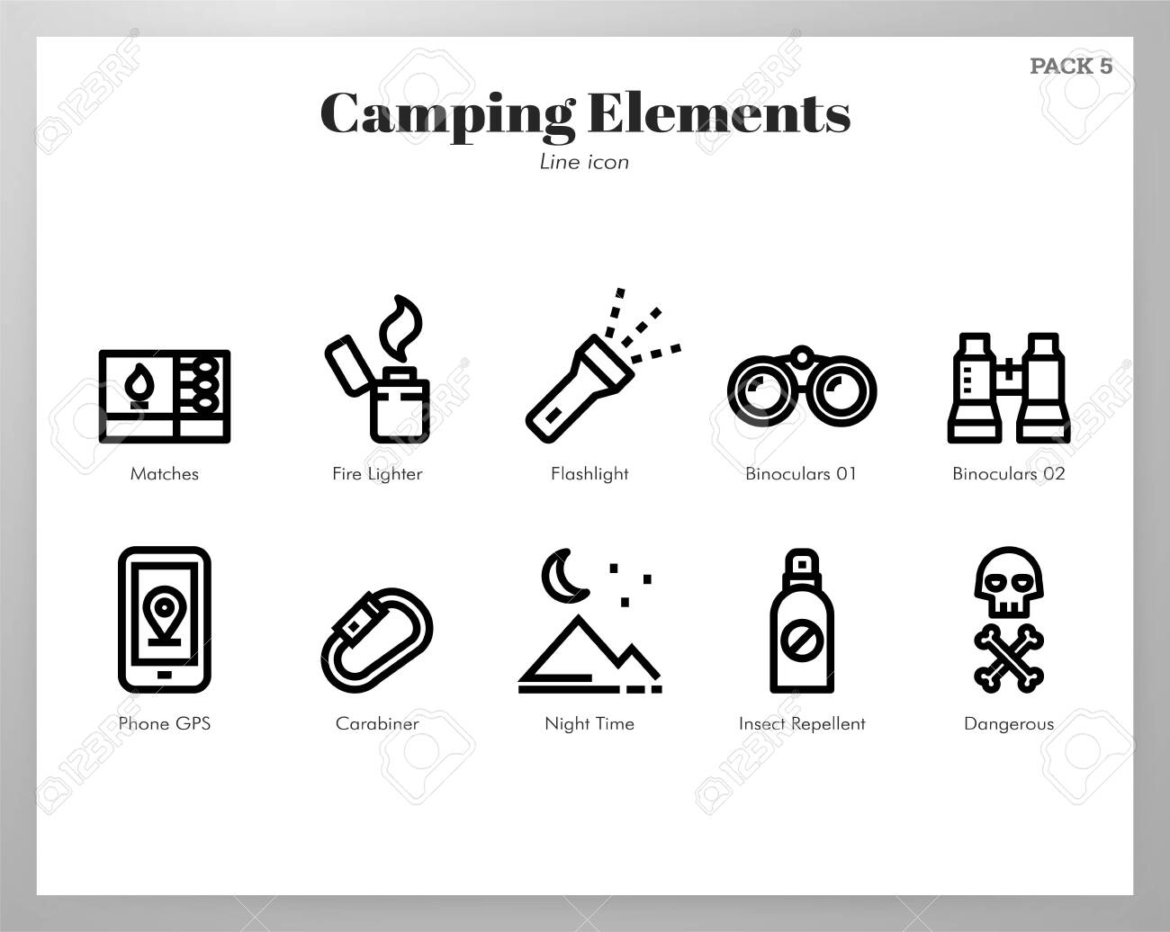 Camping vector illustration in line stroke design - 128285592