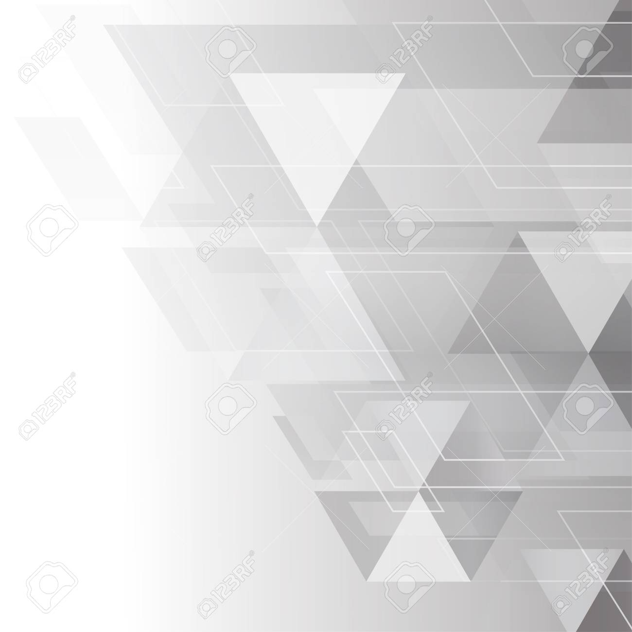 af2750b3ff70 Abstract grey and white tech geometric corporate design background eps 10.Vector  illustration Stock Vector