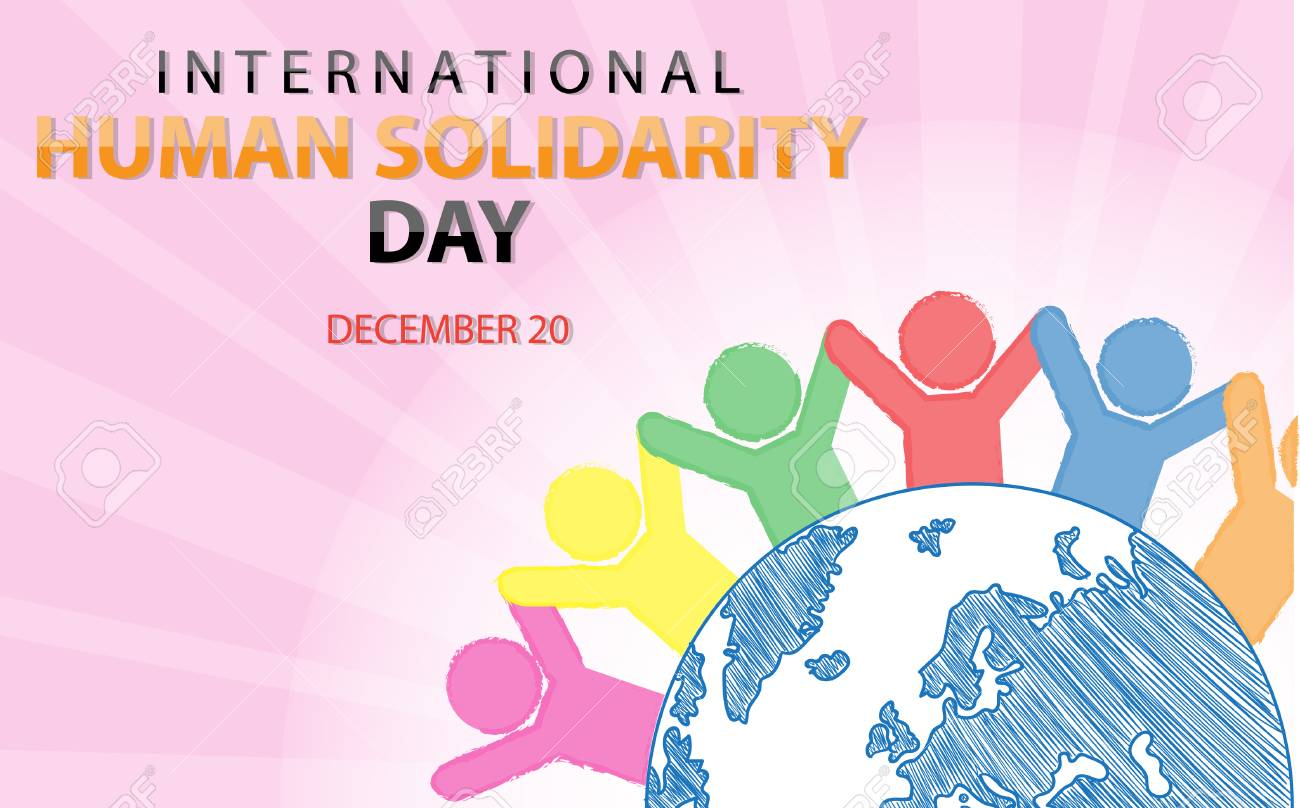 International Human Solidarity Day On December 20 Background Royalty Free  Cliparts, Vectors, And Stock Illustration. Image 95133861.