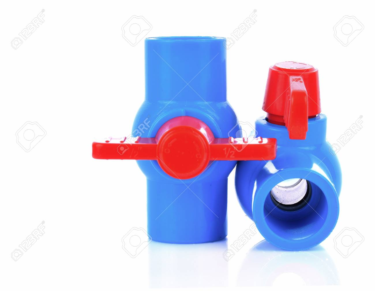 Plastic water pipe on white background Stock Photo - 79196392  sc 1 st  123RF.com & Plastic Water Pipe On White Background Stock Photo Picture And ...