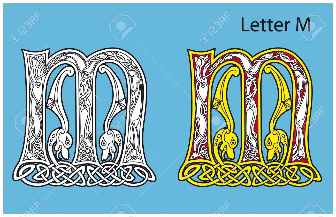Ancient Celtic Alphabet (26 Letters) Royalty Free Cliparts ...