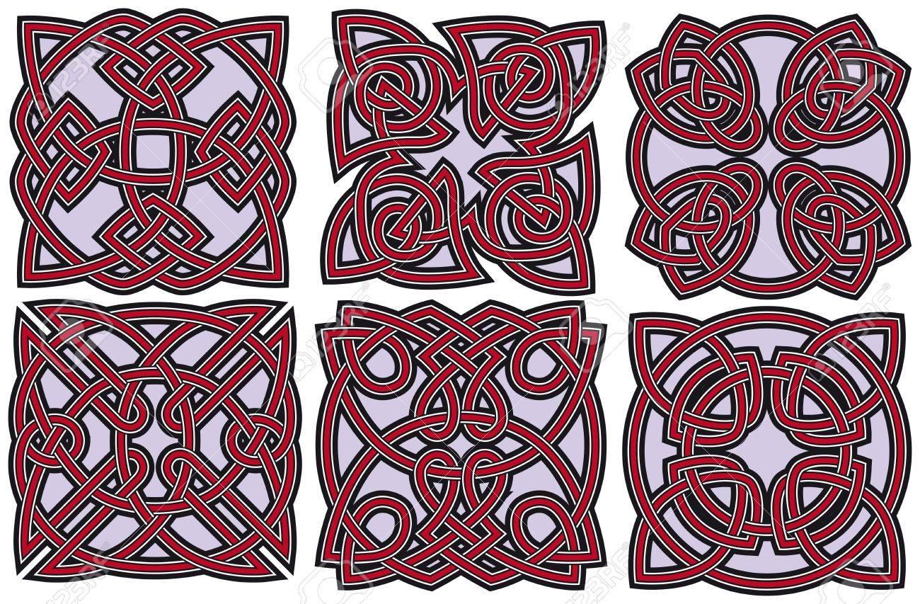 Set of celtic design elements Stock Vector - 8504304