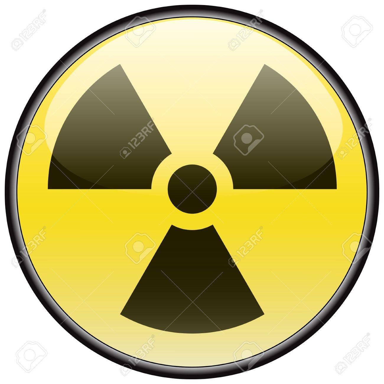 Radiation vector round hazardous sign Stock Vector - 8504274