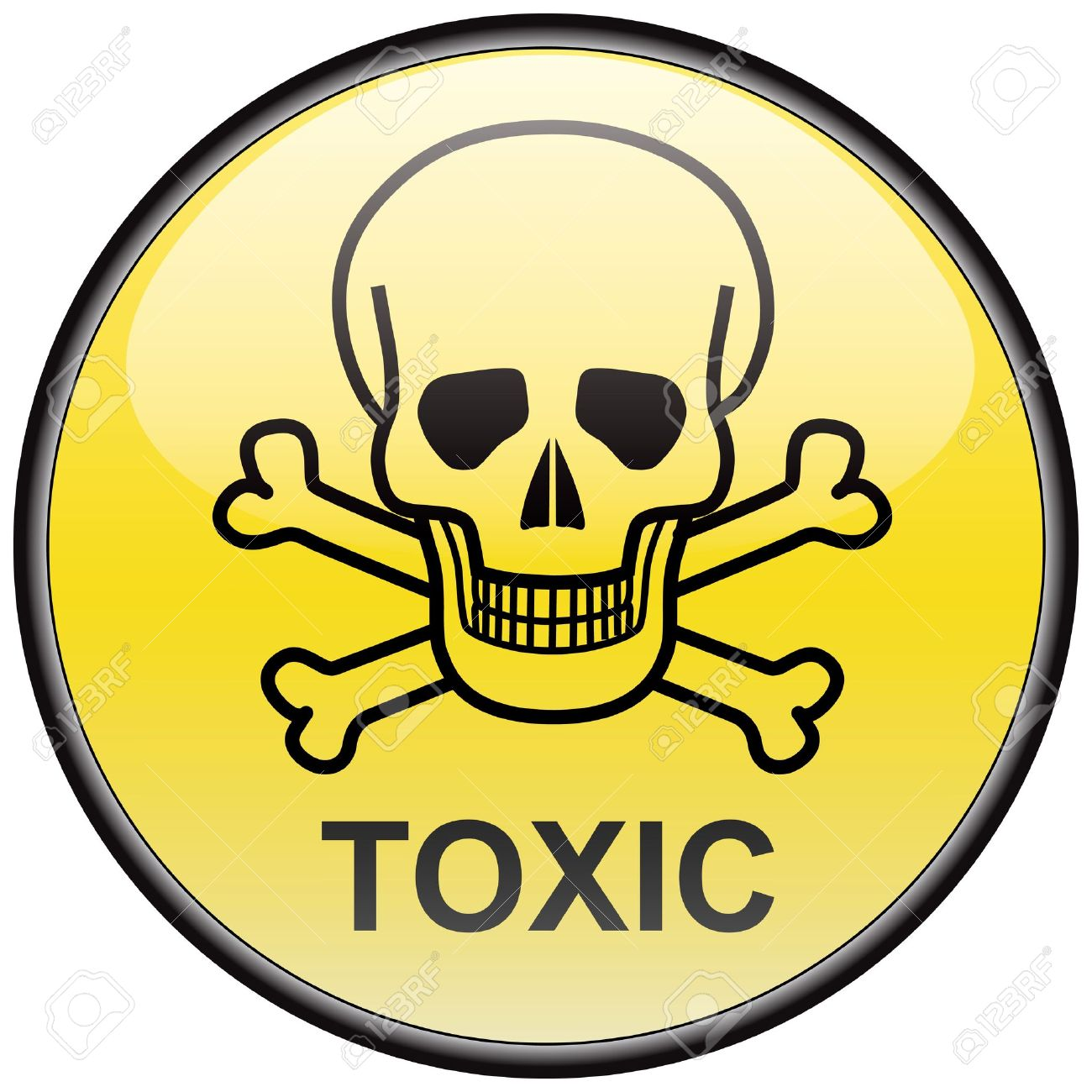 toxic sign and skulls - photo #1