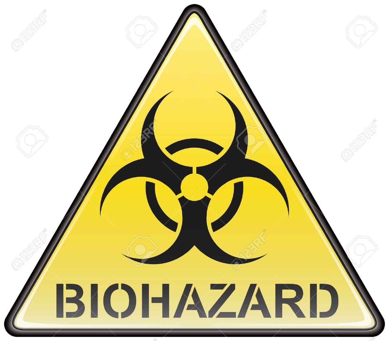 Biohazard vector triangle sign Stock Vector - 8504309