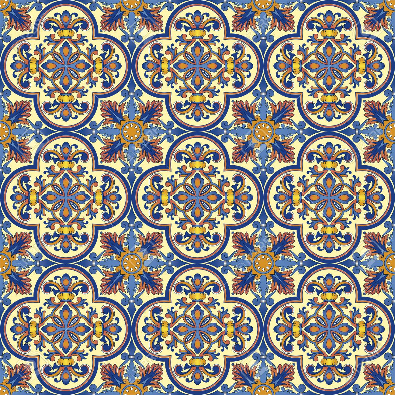 Seamless ornamental oriental pattern Stock Photo - 9097355