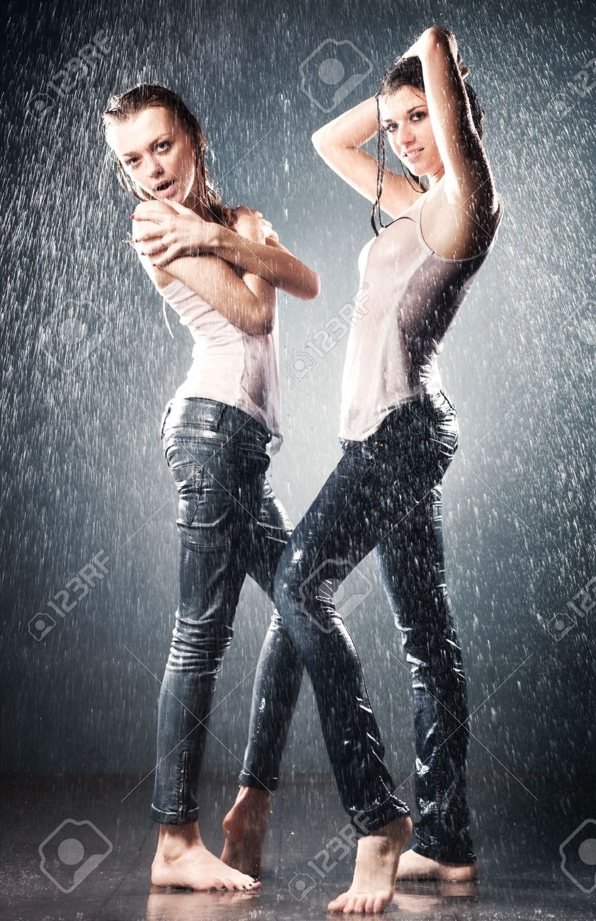 Young sexy women. Water studio photo. Stock Photo - 6243669