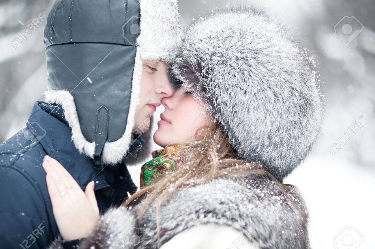 Young couple tender outdoors portrait. Stock Photo - 6452383