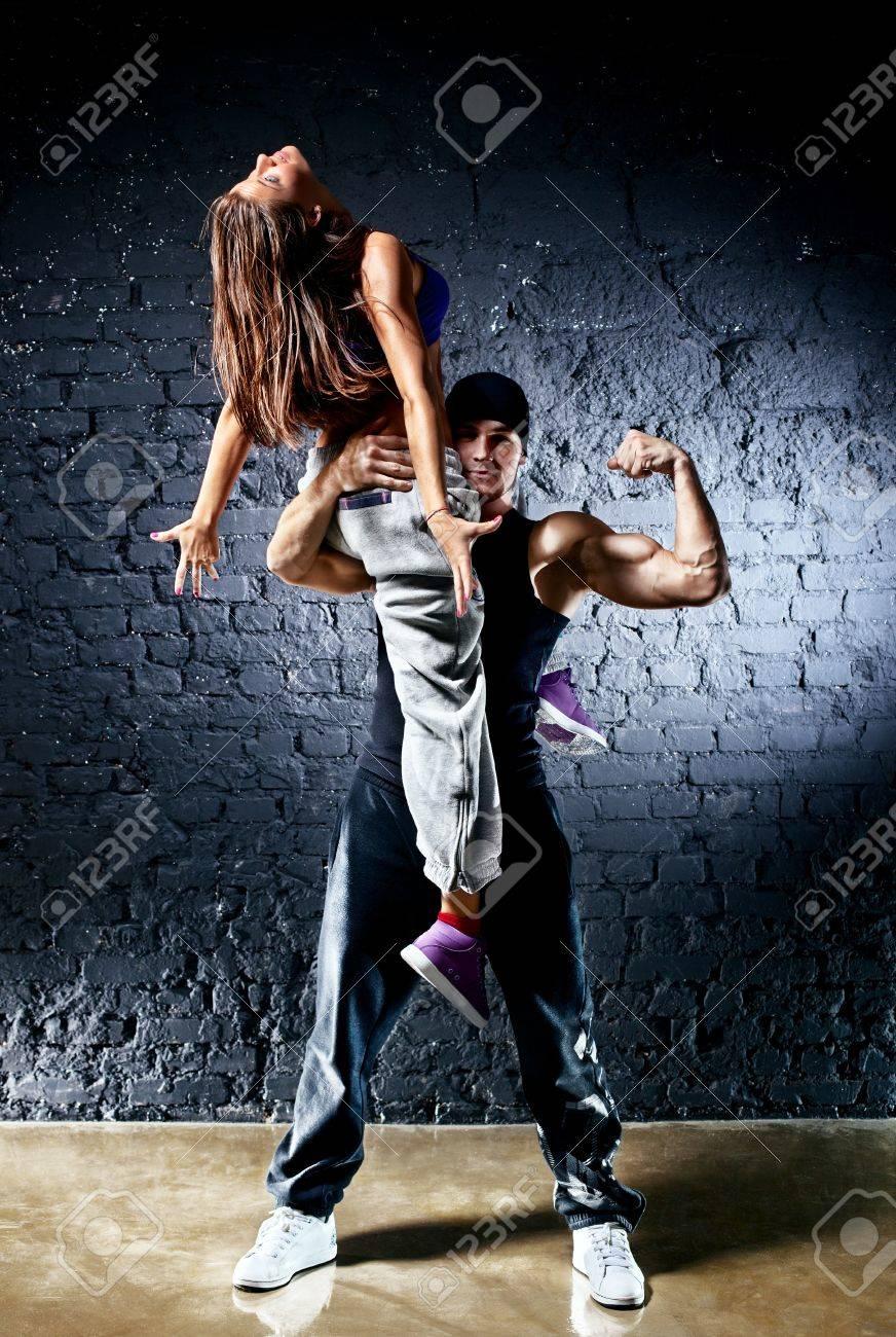 Dancer couple. Contrast colors effect. Stock Photo - 9806784