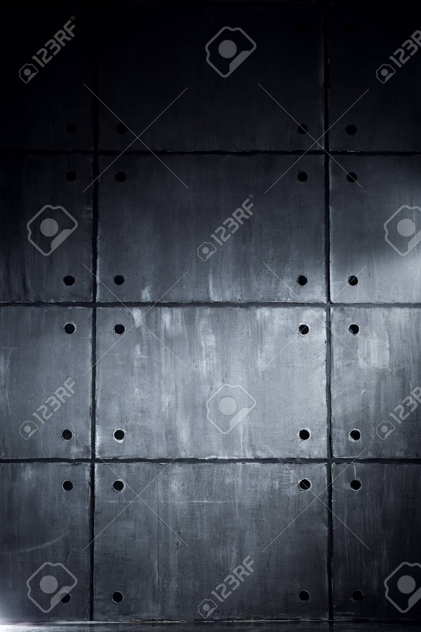 Gray Concrete Wall With Big Blocks In Contrast Dark Colors Stock Photo Picture And Royalty Free Image Image 37731650