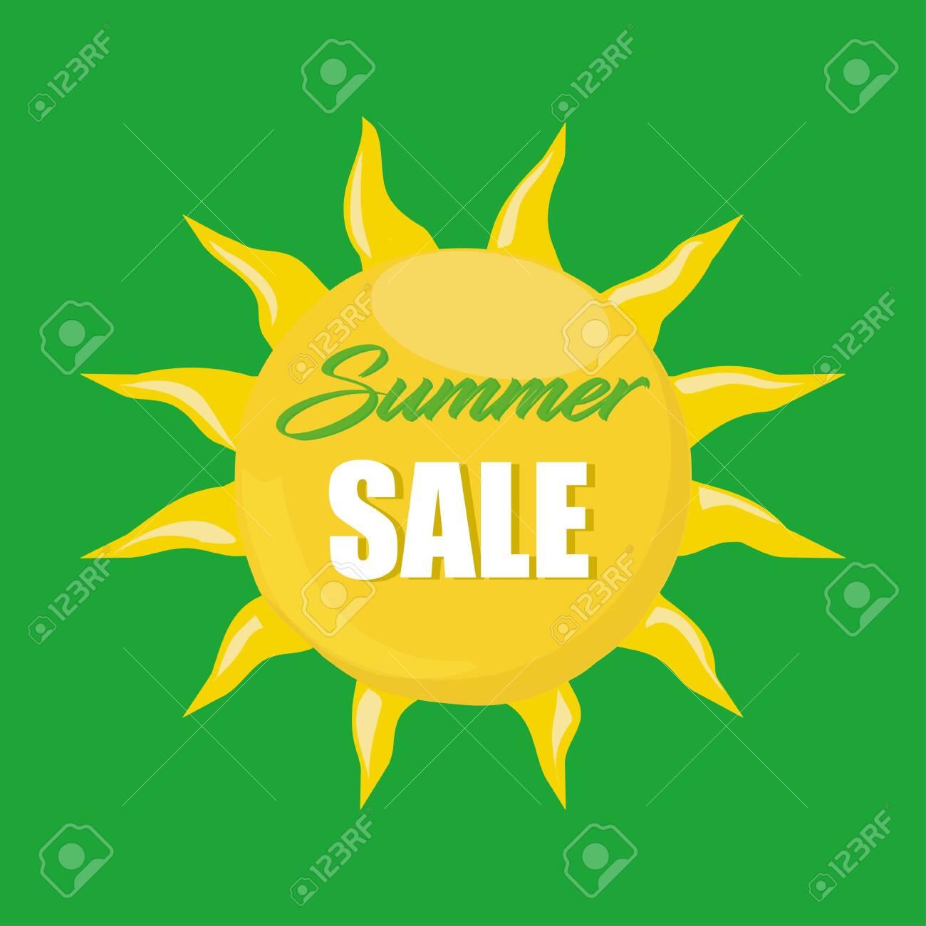 Summer sale banner. Design for banner, flyer, invitation, poster, web site or greeting card. - 146957669
