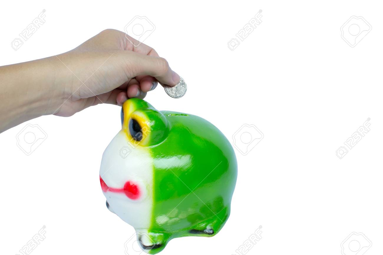 a-hand-saving-coin-in-frog Stock Photo - 15474306