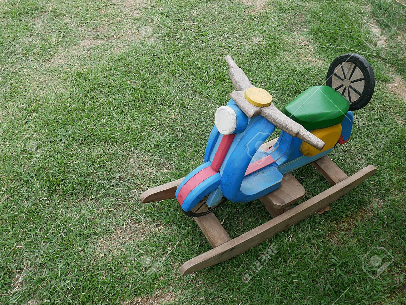 Picture of: Wood Motorbike Shape Kids Rocking Chair Stock Photo Picture And Royalty Free Image Image 131654925