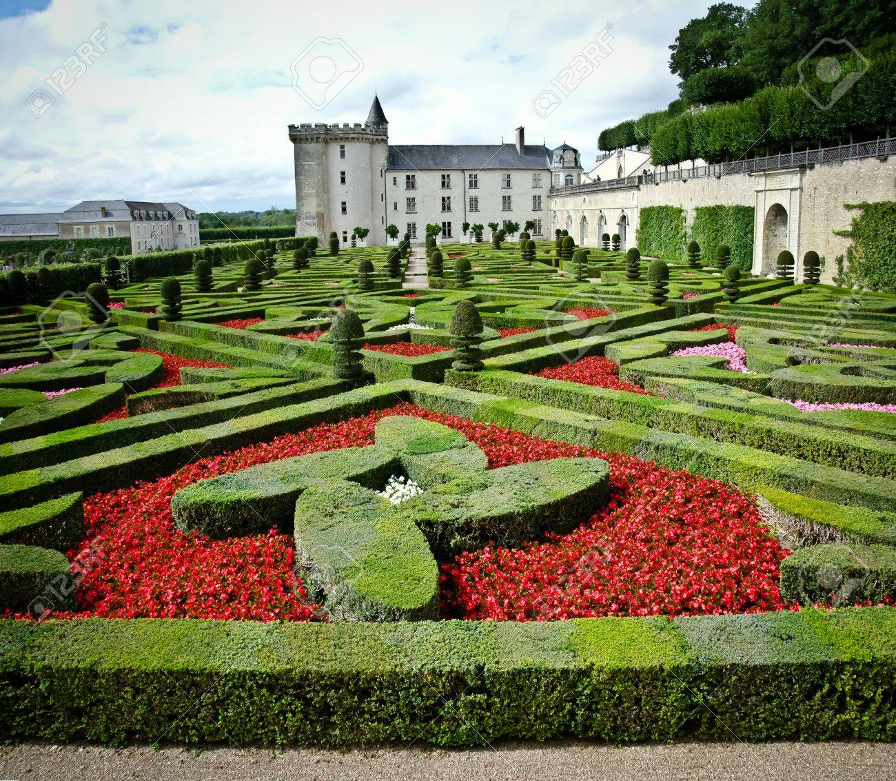 gardens and castle in villandry, loire valley, France Stock Photo - 10414170