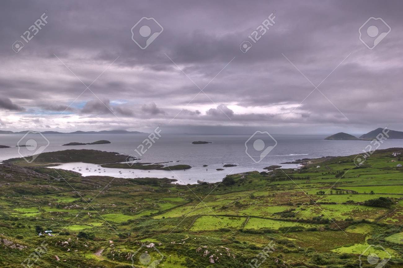 derrynane bay in a cloudy day Stock Photo - 11980601