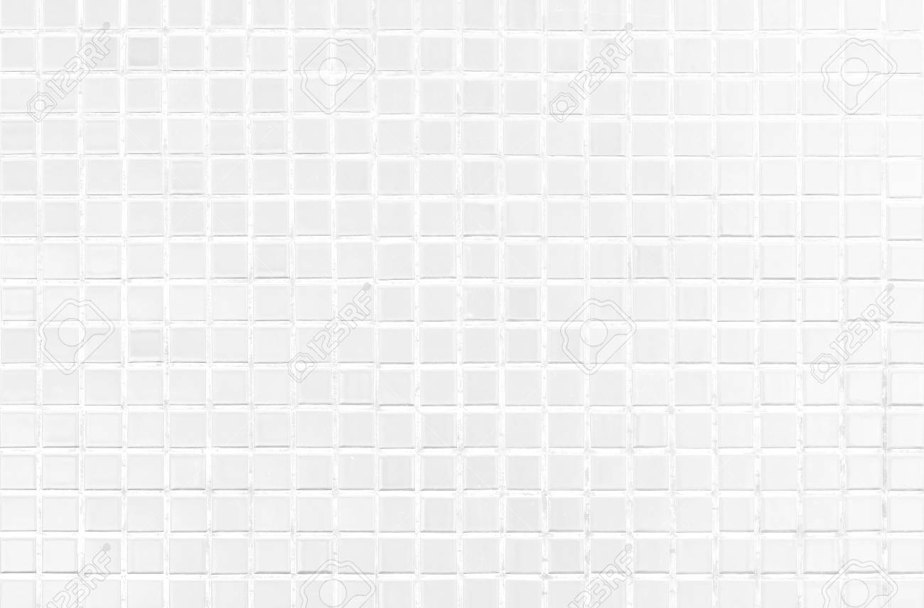White Tile Modern Wall Background In Toilet Gay Glass Mosaic