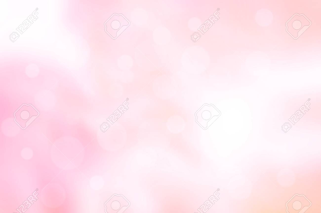 Abstract pink blur bokeh texture background. Colorful white pastel wallpaper. Stock Photo - 107501077
